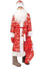 Детский красный костюм Деда Мороза