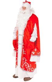 Взрослый красный костюм Сказочного Деда Мороза