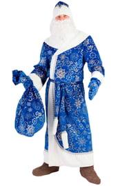 Взрослый костюм Деда Мороза синий