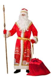 Взрослый костюм Деда Мороза с принтом города
