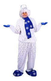Взрослый костюм Снеговика с шарфом