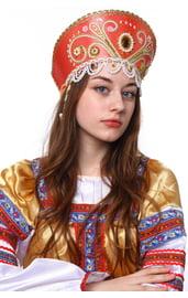 Розовый кокошник Княжна