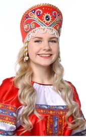 Красный кокошник Княжна