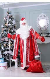 Взрослый костюм Деда Мороза с узорами