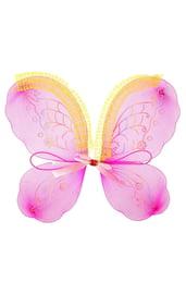 Детские розовые крылья с узорами