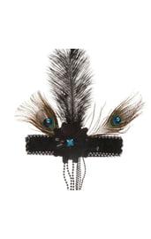 Черная повязка на голову Кокетка