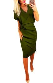 Платье миди с крученным узлом