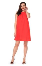 Платье коралловое свободное