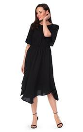 Платье миди с асимметричным подолом