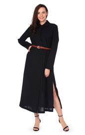 Черное платье макси