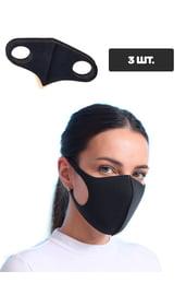 Черная защитная тканевая маска, 3 шт.