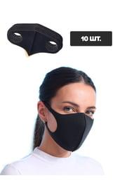 Черная защитная тканевая маска, 10 шт.