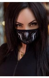 Защитная маска с принтом скелета