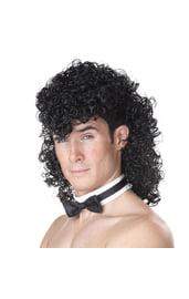 Мужской черный кудрявый парик