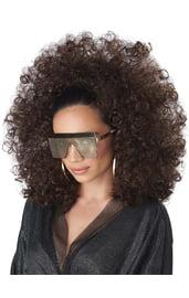 Коричневый диско парик