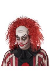 Красный клоунский парик