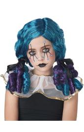Детский парик клоунессы