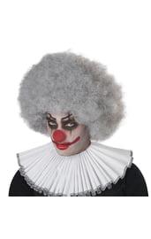 Серый кудрявый парик клоуна