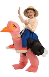 Детский надувной костюм Верхом на страусе