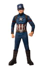 Детский костюм Капитана Америка делюкс