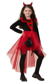 Детский костюм черно-красной Дьяволицы