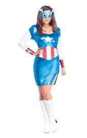 Женский костюм Капитана Америка