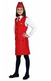 Детский костюм стюардессы красный