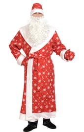 Взрослый костюм Красного Дедушки Мороза
