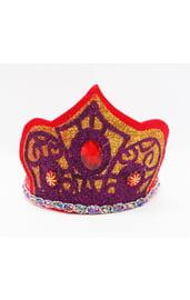 Золотисто-фиолетовая корона с камнями