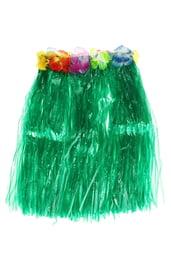 Зеленая гавайская юбка 40 см