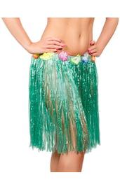 Зеленая гавайская юбка 50 см