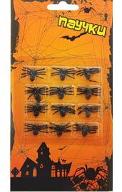 Набор черных пауков 12 шт