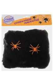 Черная паутина с пауками