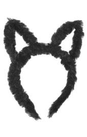 Карнавальный ободок Черная кошечка