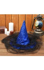 Синяя шляпа с вуалью