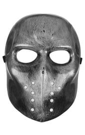 Карнавальная маска Страх серебряная