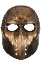 Карнавальная маска Страх золотая
