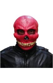 Латексная маска красного черепа