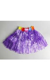 Фиолетовая гавайская юбка