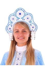 Бело-голубой кокошник Снегурочки