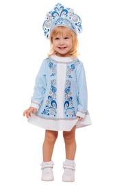 Костюм Снегурочки малышки в голубом