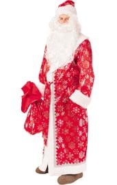 Взрослый красный костюм Деда Мороза