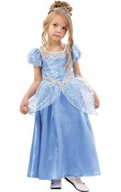 Детский костюм нежной Золушки в голубом