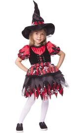 Детский костюм черно-красной Ведьмочки
