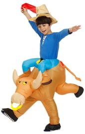 Детский надувной костюм На быке