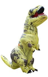 Взрослый надувной костюм желтого Ти-Рекса