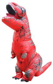 Взрослый надувной костюм красного Ти-Рекса