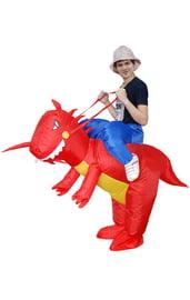Взрослый надувной костюм На динозавре