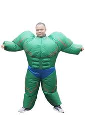 Взрослый надувной костюм Халка