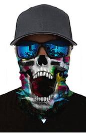 Разноцветная бандана с черепом